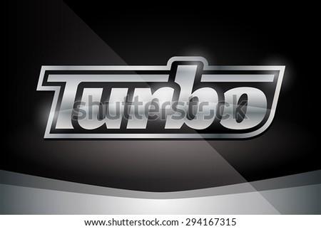 chrome vehicle turbo badge on