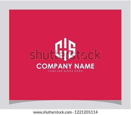 CHS initial icon logo design vector eps 10