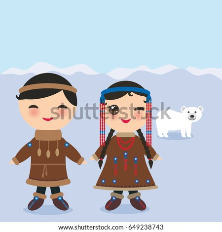 chukcha yakut eskimos boy and