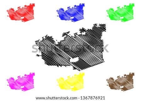 Chula Vista City (United States cities, United States of America, usa city) map vector illustration, scribble sketch City of Chula Vista map