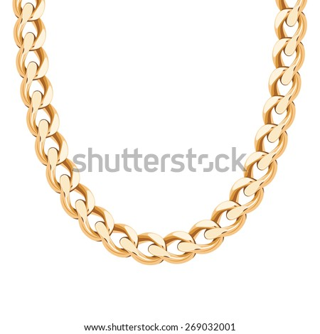 chunky chain golden metallic