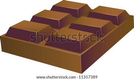 Chunky Chocolate Squares (VECTOR)