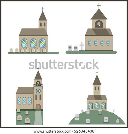 church cemetery,Catholic church and cemetery