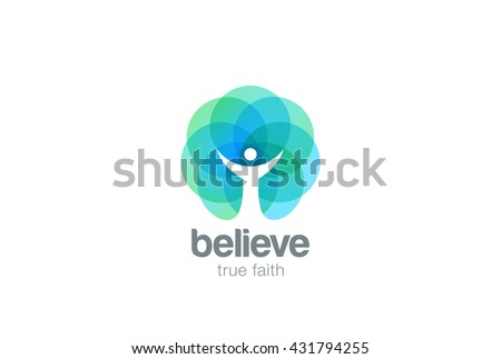 Church Faith Logo Pray Religion abstract design vector template.