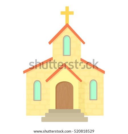 church icon. cartoon...