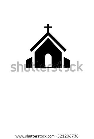 Shutterstock church icon house icon