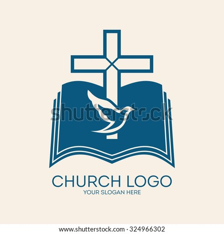 Vector images illustrations and cliparts church logo cross and church logo cross and open bible dove holy spirit thecheapjerseys Images