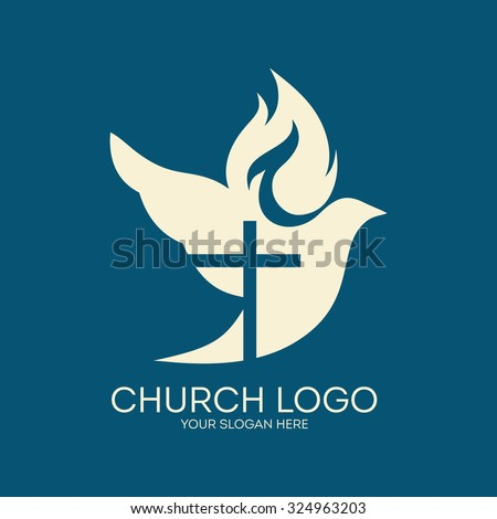 Vector images illustrations and cliparts church logo dove cross church logo dove cross flame holy spirit thecheapjerseys Gallery