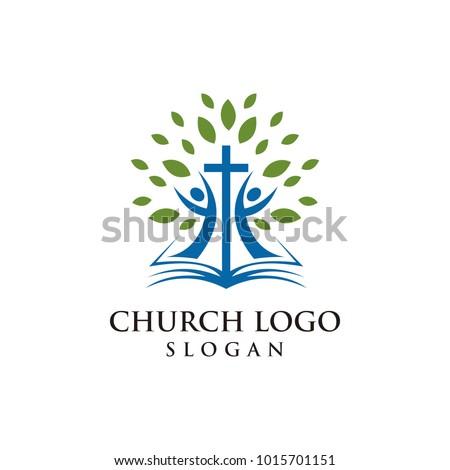 church logo modern vector