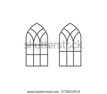 church window symbol icon