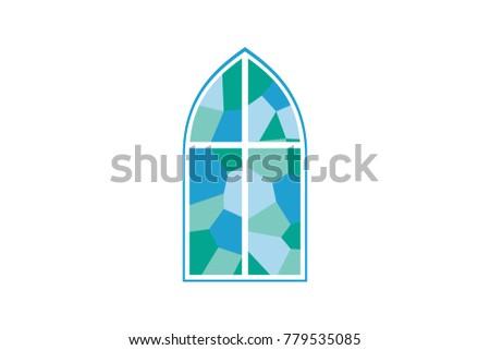 Church window vector