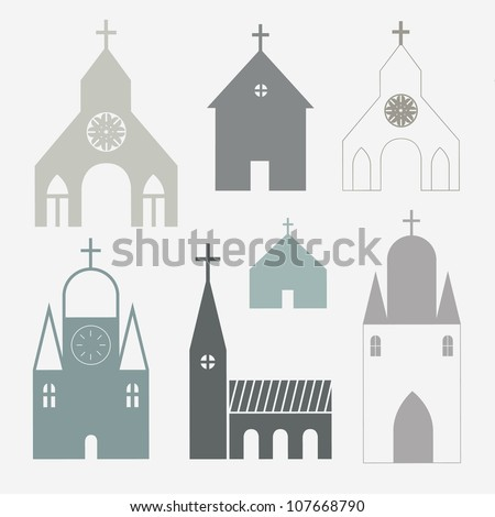 Churches vector