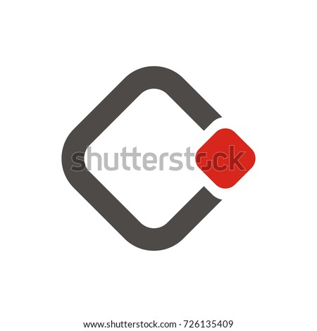 CI or C initial letter logo design template vector Stock fotó ©