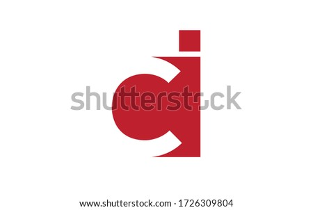 ci or ic Letter Initial Logo Design, Vector Template Stock fotó ©