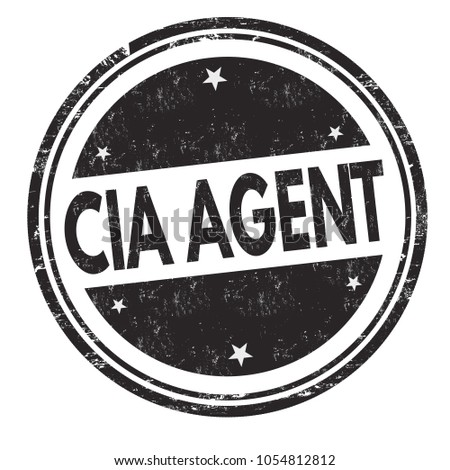 cia agent grunge rubber stamp