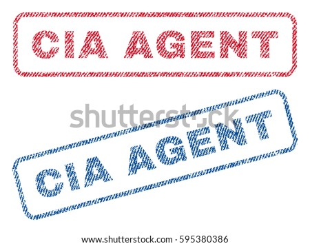 cia agent text textile seal