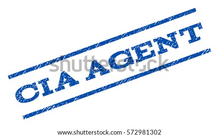 cia agent watermark stamp text