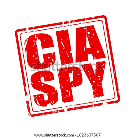 cia spy red stamp text on white