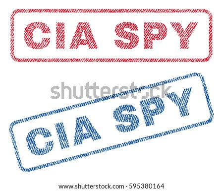 cia spy text textile seal stamp