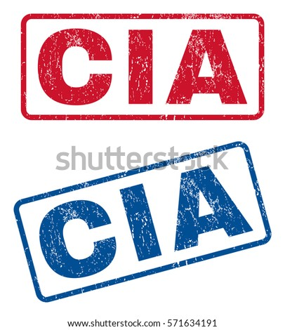 cia text rubber seal stamp
