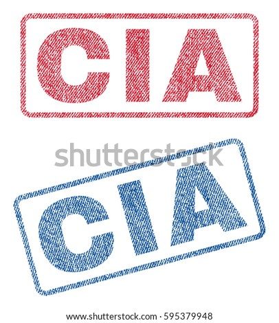 cia text textile seal stamp
