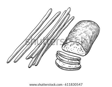 ciabatta and bread sticks