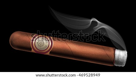 Cigar. Vector illustration.