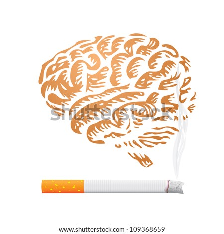 cigarette and human brain