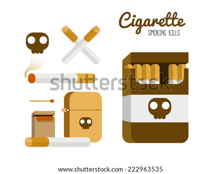 cigarette and lighter set