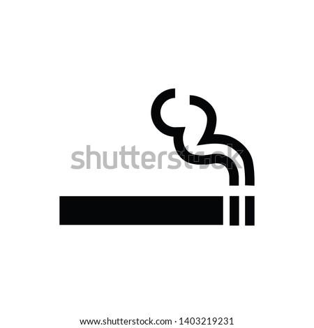 Cigarette icon,smoke area icon vector logo template