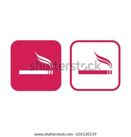 cigarette icon vector allowed