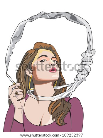 cigarette kills you  woman