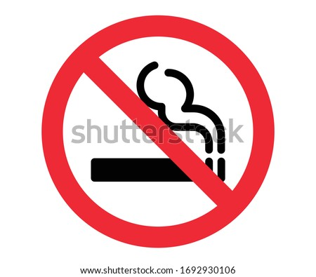 cigarette not allowed, no smoking, smoking prohibited vector sign Foto stock ©
