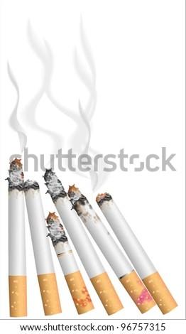 Cigarette smoking (vector)