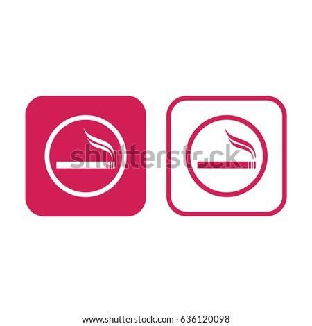 cigarette vector icon allowed