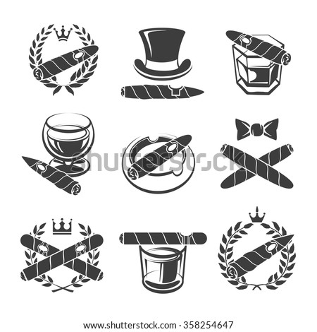 Cigars logo set