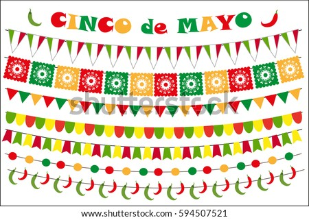 cinco de mayo celebration set