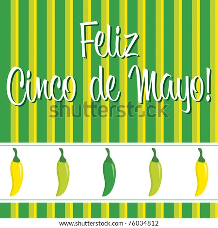 Cinco de Mayo chili pepper greeting cards in vector format.