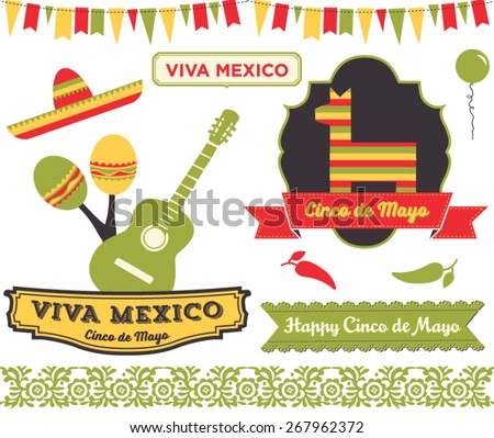 cinco de mayo clip art set