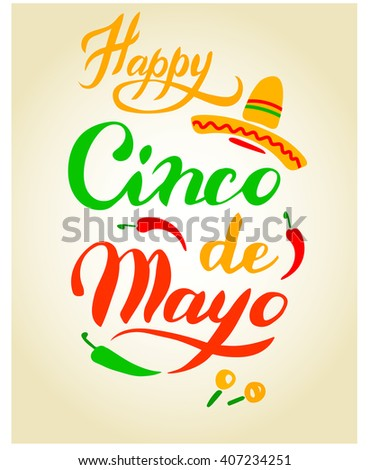 cinco de mayo hand drawn