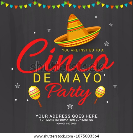 cinco de mayo poster template for invitation for fiesta party