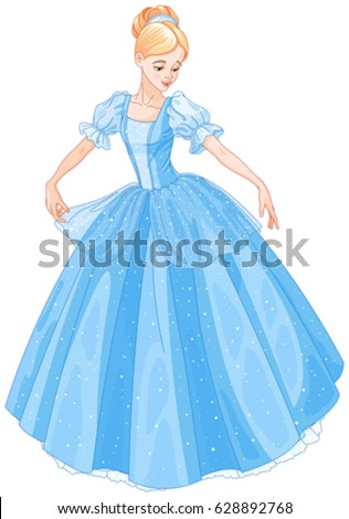 cinderella is looking at her