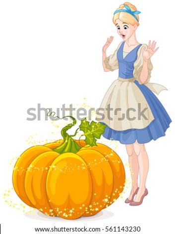 cinderella surprised by pumpkin