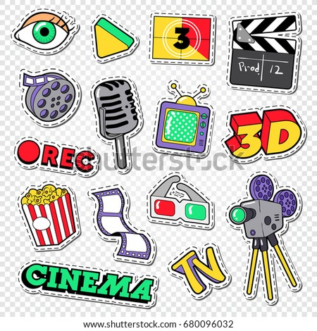 cinema and movie doodle film