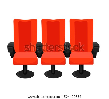 Cinema armchairs isolated on white background
