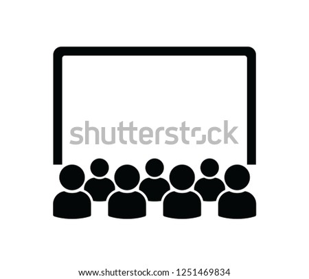 cinema audience   icon vector