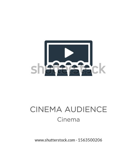 Cinema audience icon vector. Trendy flat cinema audience icon from cinema collection isolated on white background. Vector illustration can be used for web and mobile graphic design, logo, eps10
