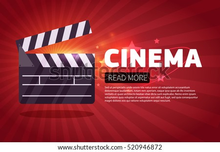 cinema background.Movie flyer or ticket template.