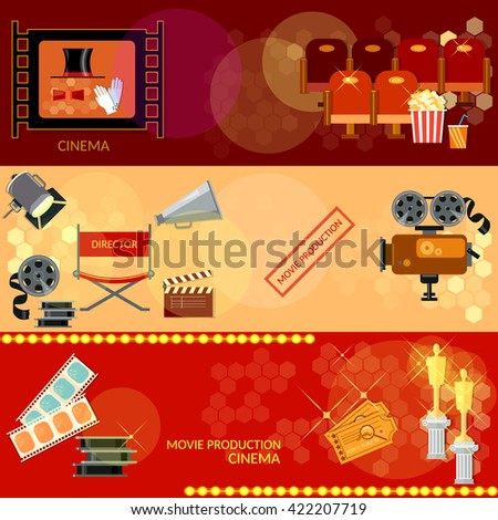 cinema banners movie vector
