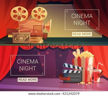 cinema cartoon horizontal
